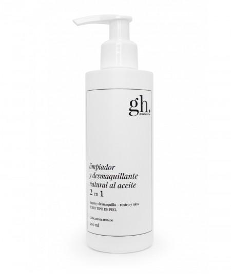 GH Limpiador y desmaquillante natural al aceite 2 en 1 200 mL