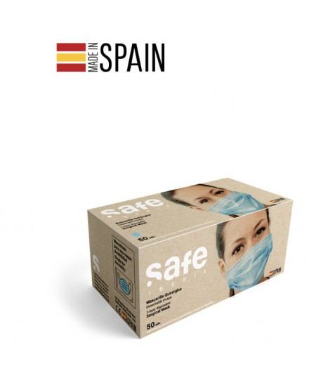 Caja 50 Mascarillas quirúrgicas SAFE IBERIA
