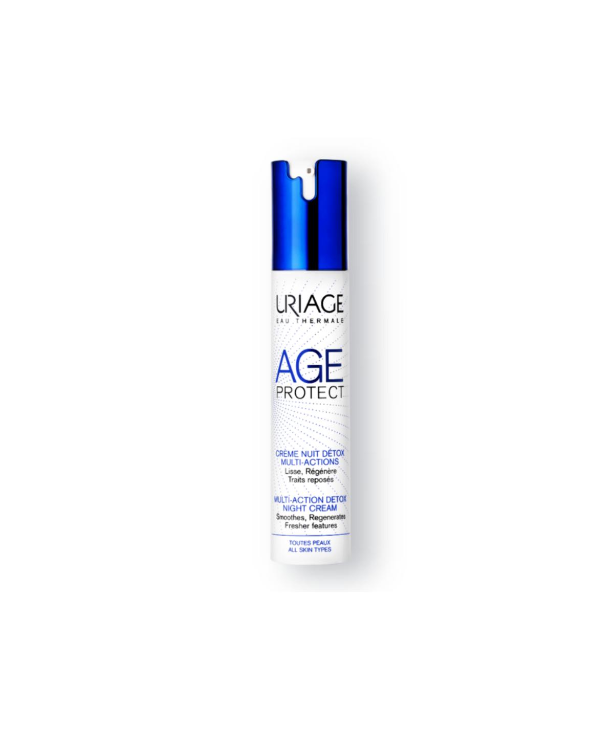 Uriage Age Protect Crema de noche Detox Multiacción