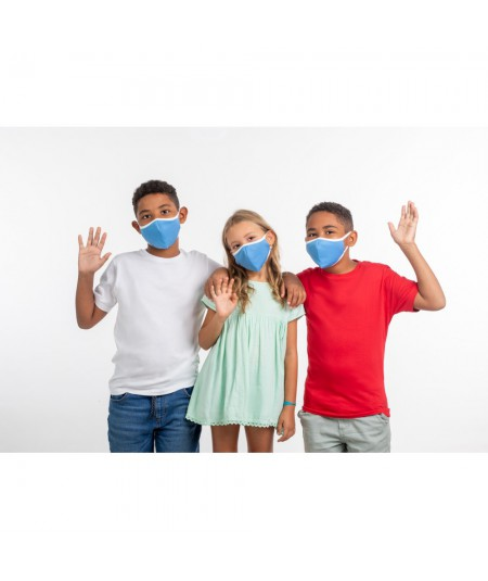 MASCARILLA INFANTIL GAMMA HEALTH REUTILIZABLE 50 LAVADOS. AZUL