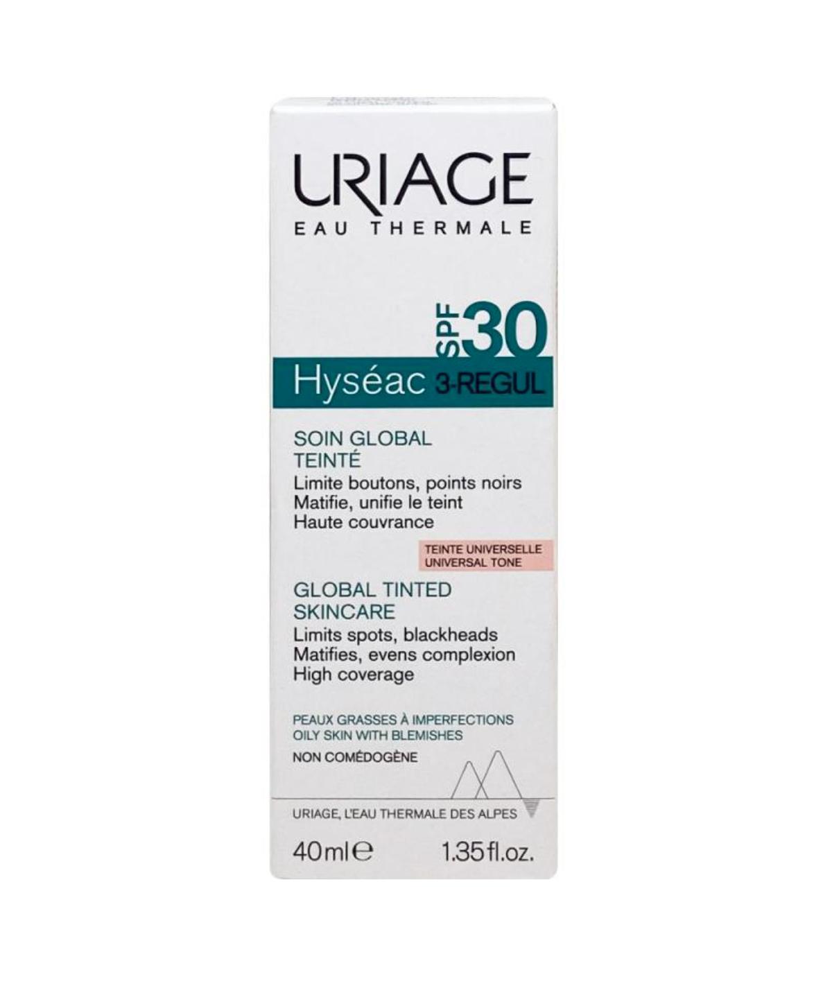 Uriage HYSÉAC 3-REGUL CUIDADO ANTI-ACNÉ GLOBAL CON COLOR SPF30+